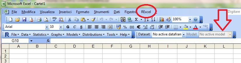 integrazione di R in Excel